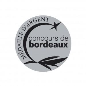 MEDAILLE ARGENT concours de Bordeaux