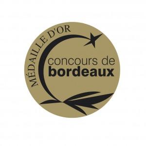 MEDAILLE OR concours de Bordeaux