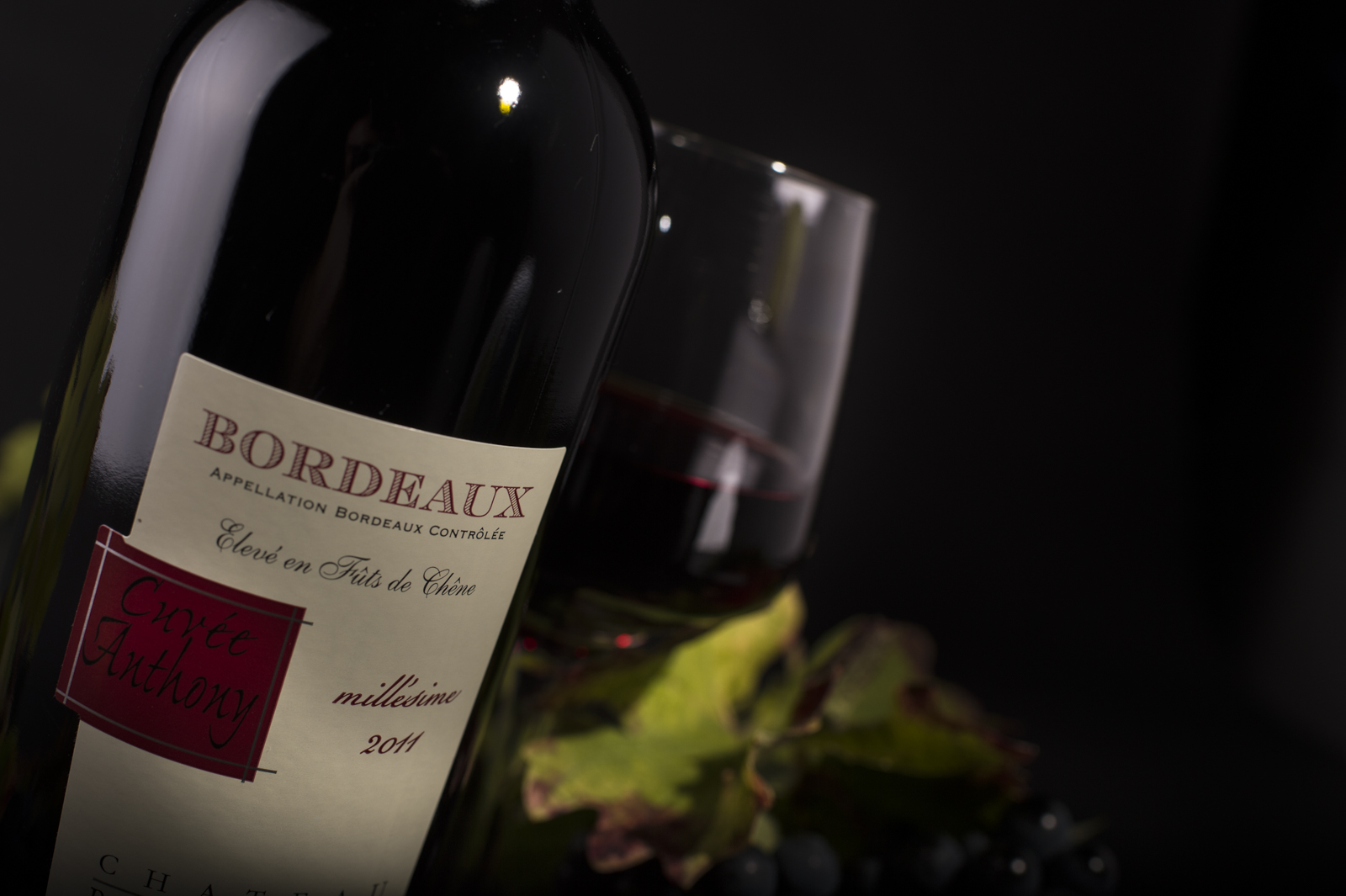 Bordeaux Rouge AOC – Cuvée Anthony – élevé en fût de chêne